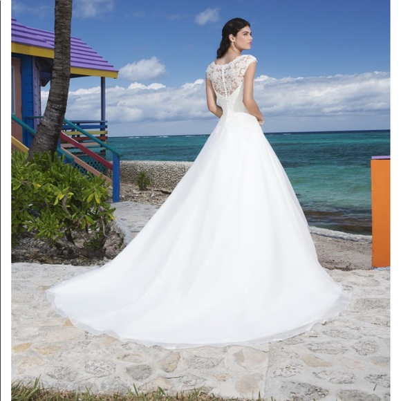 Sincerely Ivory Bridal Wedding Dress Cathedral
